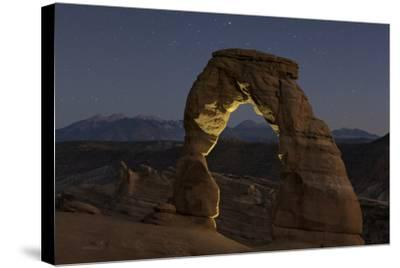 First Evening Stars Appear Above the Delicate Arch at Dusk-Babak Tafreshi-Stretched Canvas Print