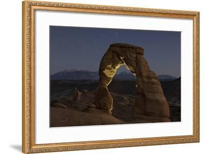 First Evening Stars Appear Above the Delicate Arch at Dusk-Babak Tafreshi-Framed Photographic Print