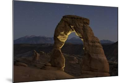 First Evening Stars Appear Above the Delicate Arch at Dusk-Babak Tafreshi-Mounted Photographic Print