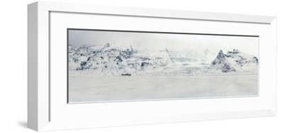 Panorama Image of Mountain Range and Glacier Toungues Covered in Snow-Raul Touzon-Framed Photographic Print
