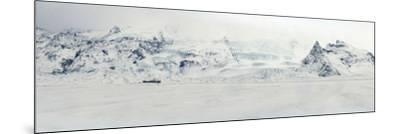 Panorama Image of Mountain Range and Glacier Toungues Covered in Snow-Raul Touzon-Mounted Photographic Print