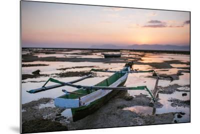 A Fisherman Boat at Low Tide Sunset-Max Lowe-Mounted Photographic Print