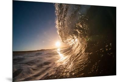 Water shot of a tubing wave off a Hawaiian beach-Mark A Johnson-Mounted Photographic Print