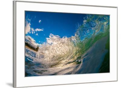 Water shot of a tubing wave off a Hawaiian beach-Mark A Johnson-Framed Photographic Print