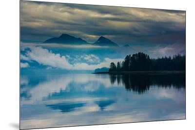 The misty mountains and calm waters of the Tongass National Forest, Southeast Alaska, USA-Mark A Johnson-Mounted Photographic Print