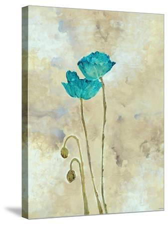 Tealqoise Flowers I-Henry E.-Stretched Canvas Print