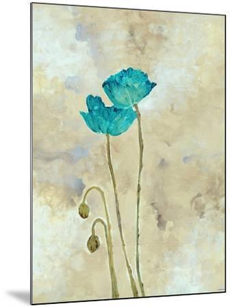 Tealqoise Flowers I-Henry E.-Mounted Art Print