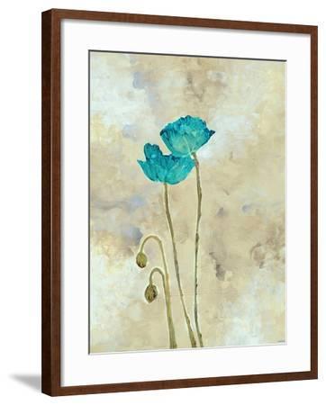 Tealqoise Flowers I-Henry E.-Framed Art Print