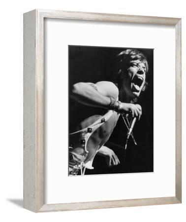 Mick Jagger Performs in Vienna-Associated Newspapers-Framed Photo