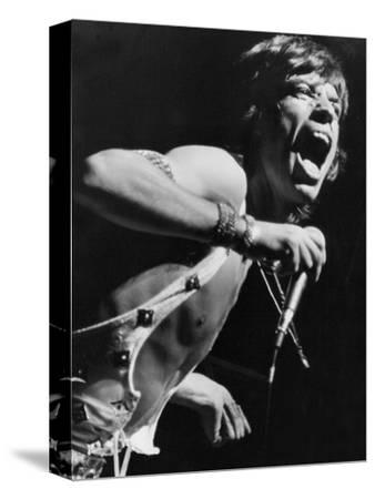 Mick Jagger Performs in Vienna-Associated Newspapers-Stretched Canvas Print