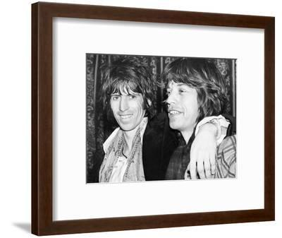 Keith Richards and Mick Jagger Celebrate-Associated Newspapers-Framed Photo