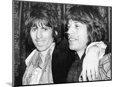 Keith Richards and Mick Jagger Celebrate-Associated Newspapers-Mounted Photo