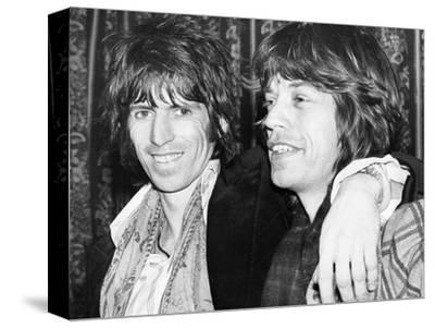 Keith Richards and Mick Jagger Celebrate-Associated Newspapers-Stretched Canvas Print