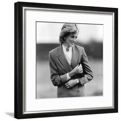 Princess Diana in Bedfordshire Visiting Disabled Children-Associated Newspapers-Framed Photo