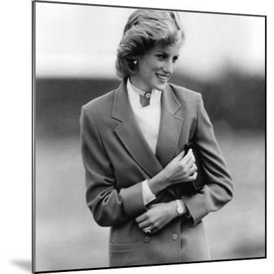 Princess Diana in Bedfordshire Visiting Disabled Children-Associated Newspapers-Mounted Photo