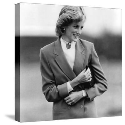 Princess Diana in Bedfordshire Visiting Disabled Children-Associated Newspapers-Stretched Canvas Print