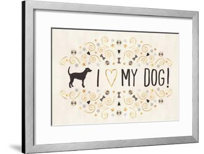 Otomi Dogs I Neutral-Veronique Charron-Framed Art Print