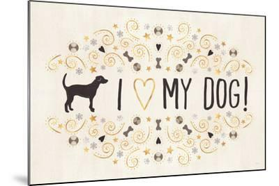 Otomi Dogs I Neutral-Veronique Charron-Mounted Art Print