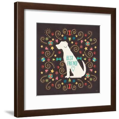 Otomi Dogs III Dark-Veronique Charron-Framed Art Print