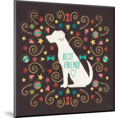 Otomi Dogs III Dark-Veronique Charron-Mounted Art Print