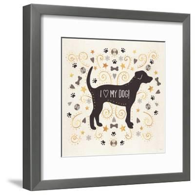 Otomi Dogs II Neutral-Veronique Charron-Framed Art Print