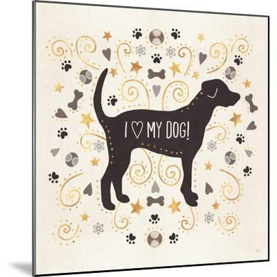 Otomi Dogs II Neutral-Veronique Charron-Mounted Art Print