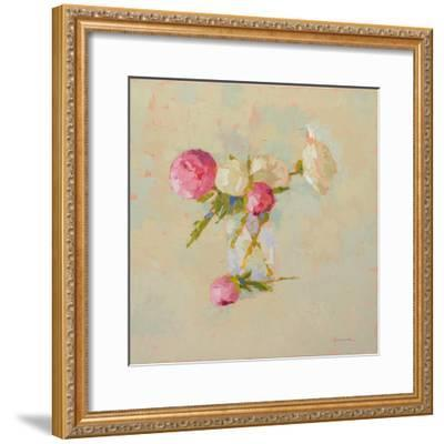 Peonies in Glass No. 2-Carol Maguire-Framed Art Print