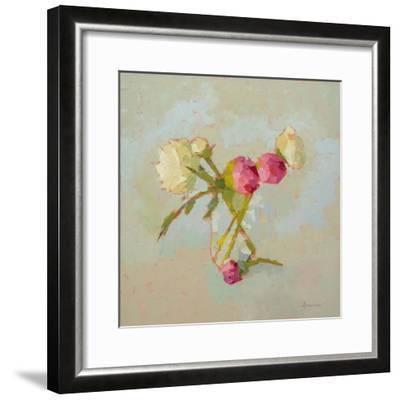 Peonies in Glass-Carol Maguire-Framed Art Print