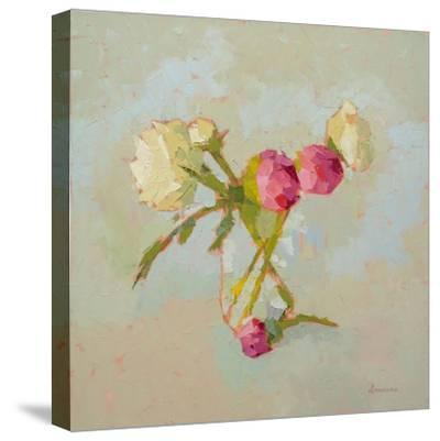 Peonies in Glass-Carol Maguire-Stretched Canvas Print