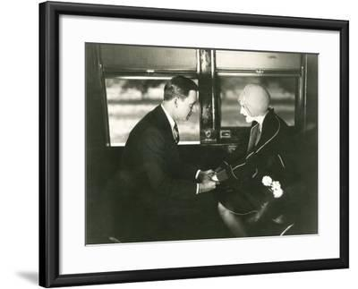 A Serious Proposition--Framed Photo