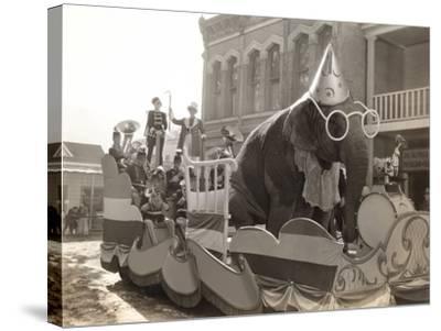 Elephant Float--Stretched Canvas Print