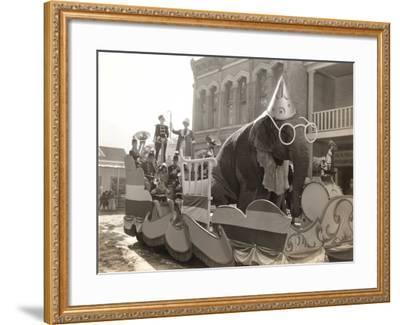 Elephant Float--Framed Photo