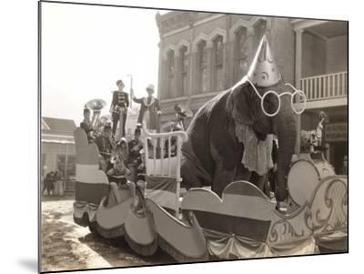 Elephant Float--Mounted Photo