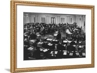 Congressional Hearing in Session--Framed Photo