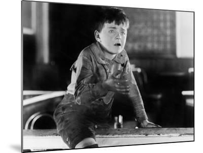Boy with Dirty Hands Crying--Mounted Photo
