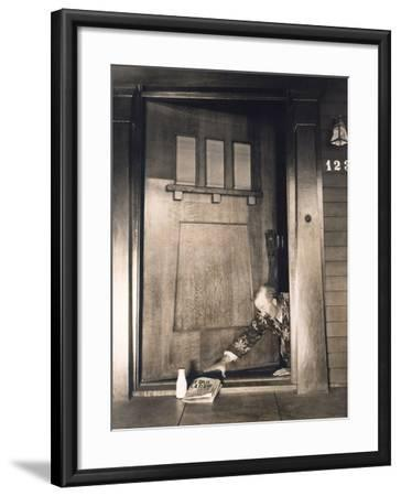 Early Morning Delivery--Framed Photo