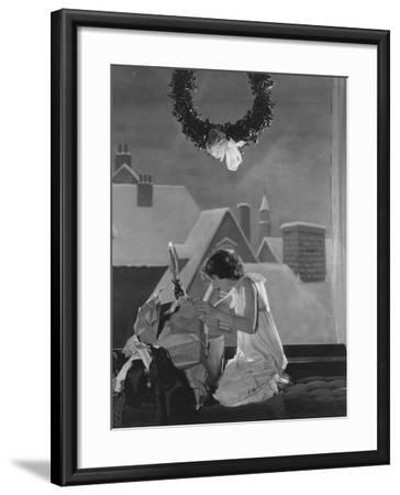 Christmas Surprise--Framed Photo