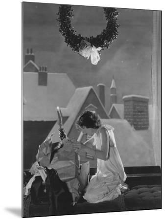 Christmas Surprise--Mounted Photo