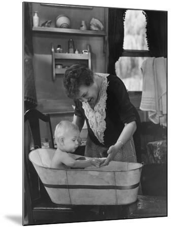 Bath Time--Mounted Photo