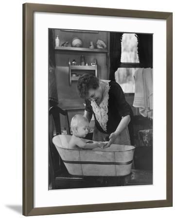 Bath Time--Framed Photo