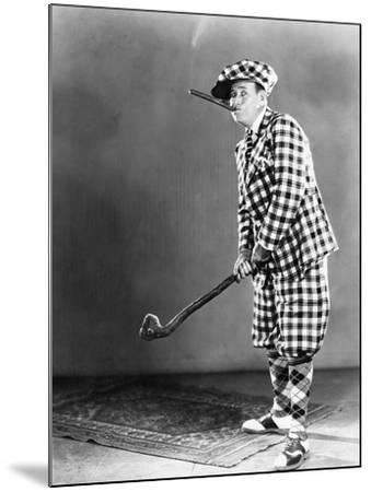 Man in a Checkered Golf Outfit--Mounted Photo