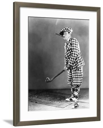 Man in a Checkered Golf Outfit--Framed Photo