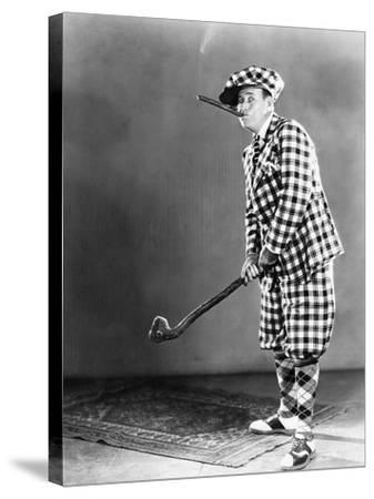 Man in a Checkered Golf Outfit--Stretched Canvas Print