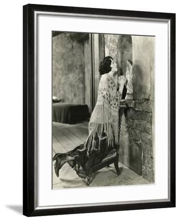 Praying to the Blessed Mother--Framed Photo