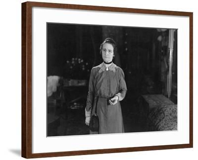 Portrait of Serious Older Woman--Framed Photo