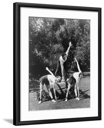 Touch Your Toes--Framed Photo