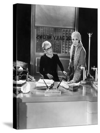 Two Women in an Office--Stretched Canvas Print