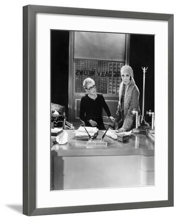 Two Women in an Office--Framed Photo