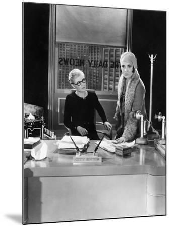 Two Women in an Office--Mounted Photo