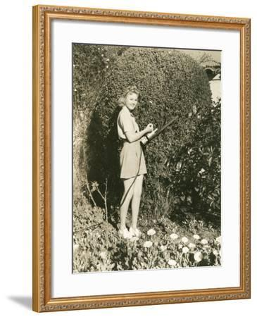 Trimming the Hedges--Framed Photo